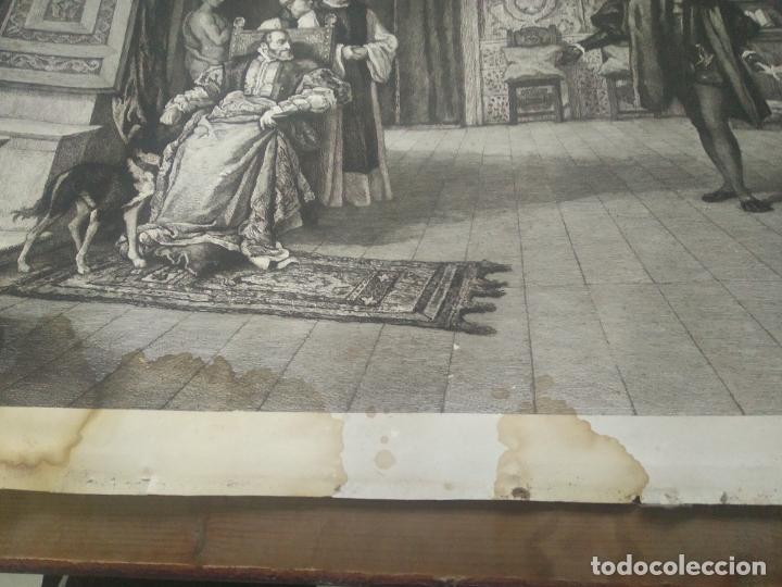 Arte: GRABADO PRESENTACION DE D. JUAN DE AUSTRIA AL EMPERADOR CARLOS V BASADO EN OBRA DE EDUARDO ROSALES - Foto 6 - 173968768