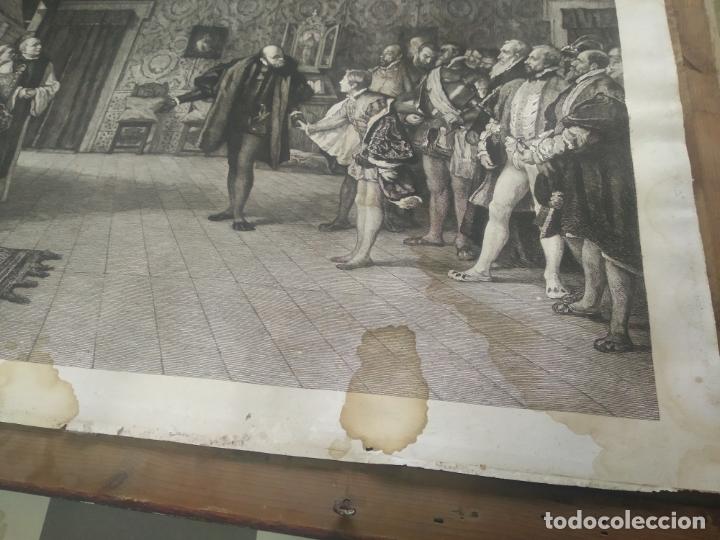 Arte: GRABADO PRESENTACION DE D. JUAN DE AUSTRIA AL EMPERADOR CARLOS V BASADO EN OBRA DE EDUARDO ROSALES - Foto 7 - 173968768