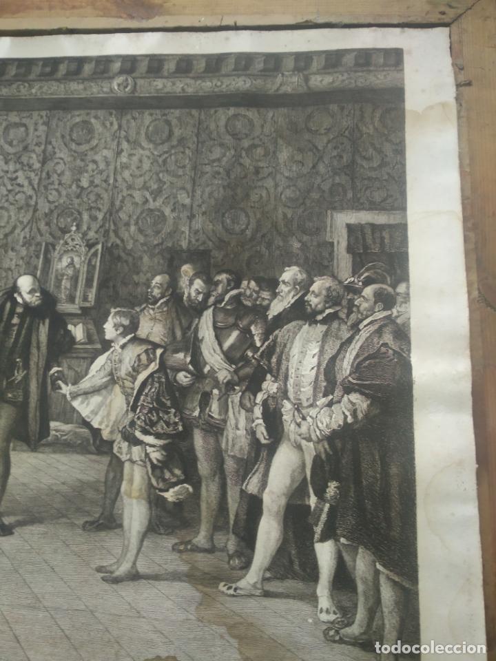 Arte: GRABADO PRESENTACION DE D. JUAN DE AUSTRIA AL EMPERADOR CARLOS V BASADO EN OBRA DE EDUARDO ROSALES - Foto 8 - 173968768