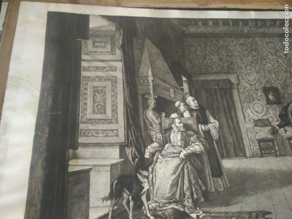 Arte: GRABADO PRESENTACION DE D. JUAN DE AUSTRIA AL EMPERADOR CARLOS V BASADO EN OBRA DE EDUARDO ROSALES - Foto 10 - 173968768