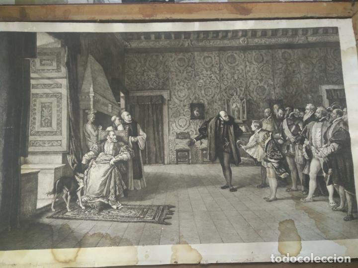 Arte: GRABADO PRESENTACION DE D. JUAN DE AUSTRIA AL EMPERADOR CARLOS V BASADO EN OBRA DE EDUARDO ROSALES - Foto 12 - 173968768