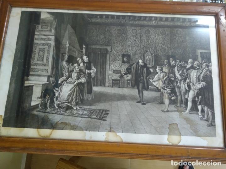 Arte: GRABADO PRESENTACION DE D. JUAN DE AUSTRIA AL EMPERADOR CARLOS V BASADO EN OBRA DE EDUARDO ROSALES - Foto 24 - 173968768