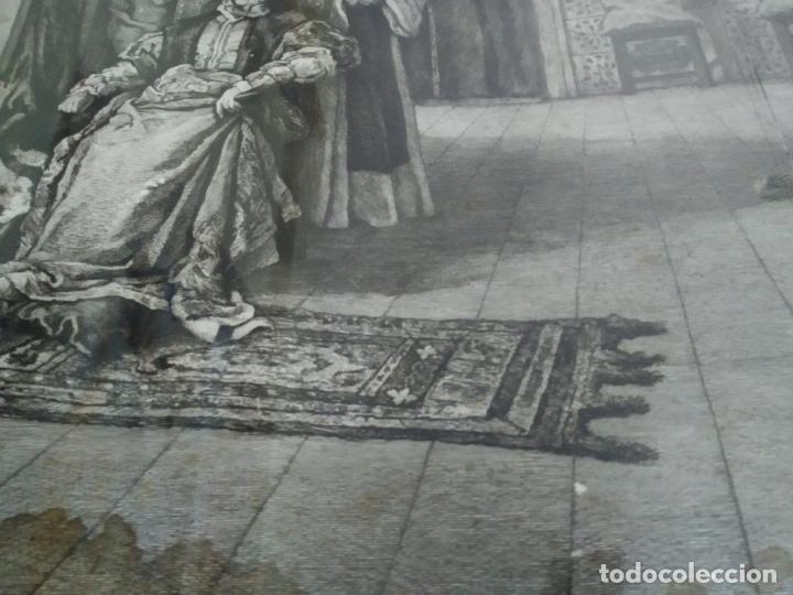 Arte: GRABADO PRESENTACION DE D. JUAN DE AUSTRIA AL EMPERADOR CARLOS V BASADO EN OBRA DE EDUARDO ROSALES - Foto 31 - 173968768