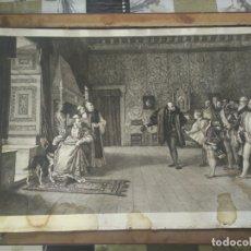 Arte: GRABADO PRESENTACION DE D. JUAN DE AUSTRIA AL EMPERADOR CARLOS V BASADO EN OBRA DE EDUARDO ROSALES. Lote 173968768