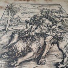 Arte: ALBRECHT DURER - SAMSON MATA AL LEÓN. Lote 174036770