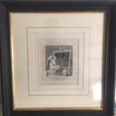 Arte: GRABADO ANTIGUO WILLIAM HOGARTH TIME SMOKING A PICTURE TIEMPO FUMANDO A UNA PINTURA. Lote 174038709