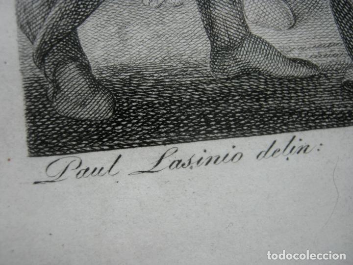 Arte: 63 CM - Martirio de San Pedro - Carlo Lasinio - Foto 6 - 174100194