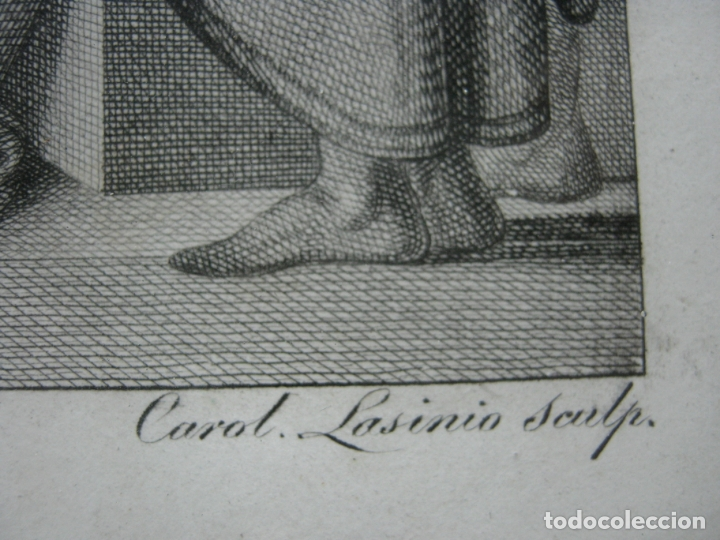 Arte: 63 CM - Martirio de San Pedro - Carlo Lasinio - Foto 10 - 174100194