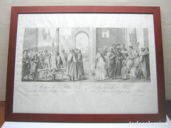 Arte: 63 CM - Martirio de San Pedro - Carlo Lasinio - Foto 11 - 174100194