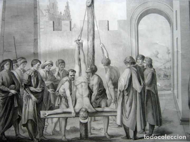 63 CM - MARTIRIO DE SAN PEDRO - CARLO LASINIO (Arte - Grabados - Antiguos hasta el siglo XVIII)