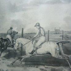 Arte: CARRERA CABALLO HIPICA POR JAZET (1788-1871) Y CARL VERNET (1758-1836). Lote 174101158