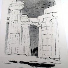 Arte: COLUMNAS DE UN TEMPLO GRIEGO, HACIA 1960 . VICTOR SURBECK. Lote 174441974