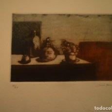 Arte: LUISA GARCIA MURO. GRABADO. FIRMADO Y NUMERADO. 55/60. 33 X 43 CM.. Lote 174499403