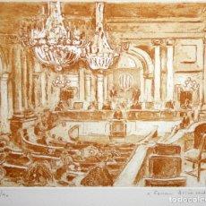 Arte: JOSEP SERRA LLIMONA (L'AMETLLA DEL VALLÈS, 1927) GRABADO FIRMADO A LAPIZ. TIRAJE: 23/90. Lote 174859647