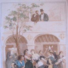 Arte: EL SECRETO DE UNA LOCA. EUSEBIO PLANAS. LITOGRAFÍA. 1894. 24 X 15,5 CM. Lote 174961953