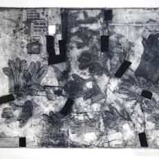Arte: GANTS - ANTONI CLAVÉ (BARCELONA, 1913- 2005) - AGUAFUERTE Y CARBORUNDUM/PAPEL - 123 X 170 CMS.. Lote 174962645