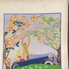 Arte: POCHOIR ORIGINAL ART DÉCO DEL ARTISTA VASCO DAVID ÁLVAREZ (1900-1940). AÑOS 20.. Lote 174989587