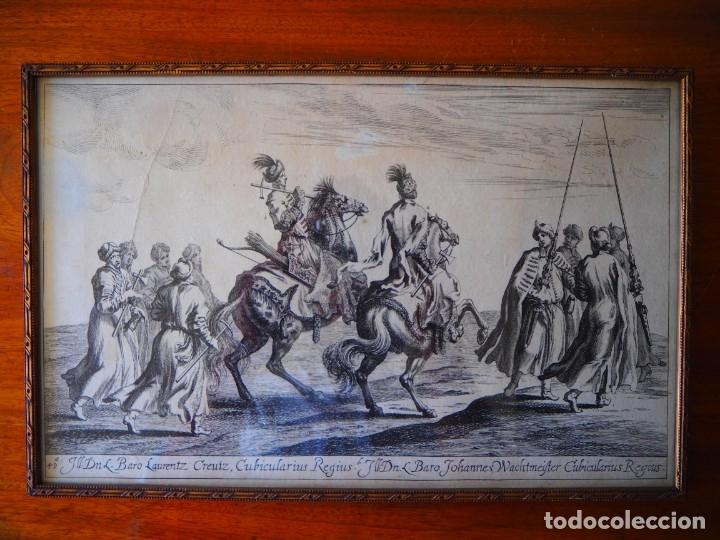 GRABADO SIGLO XVII. SUECIA. CARL XI OF SWEDEN. EHVEN STRAHL (Arte - Grabados - Antiguos hasta el siglo XVIII)