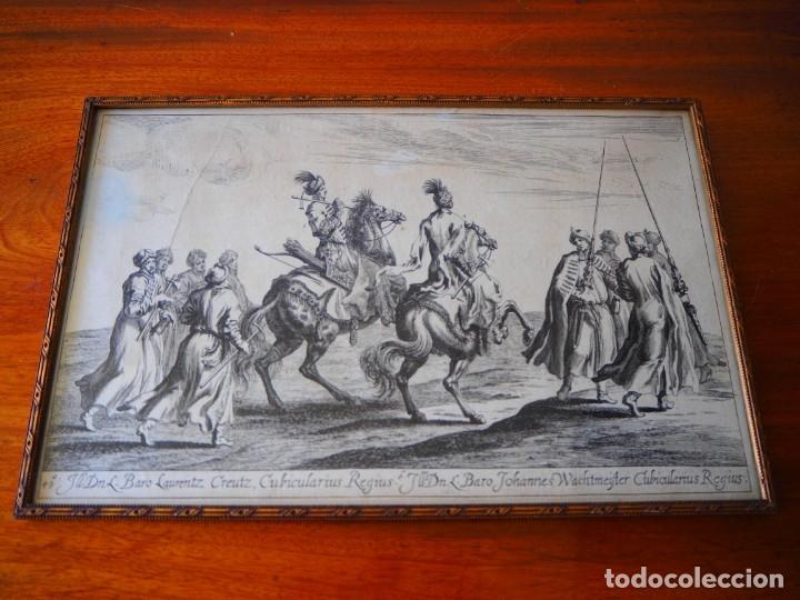 Arte: Grabado Siglo XVII. Suecia. Carl XI of Sweden. Ehven Strahl - Foto 2 - 175093457