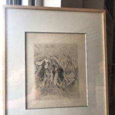 """Arte: FRANCISCO BORES GRABADO """"LA VENDIMIA"""" 1960 FIRMADO. Lote 175097510"""