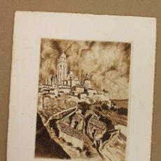 Arte: AGUAFUERTE CATEDRAL DE SEGOVIA. AÑO 1937. Lote 175121065