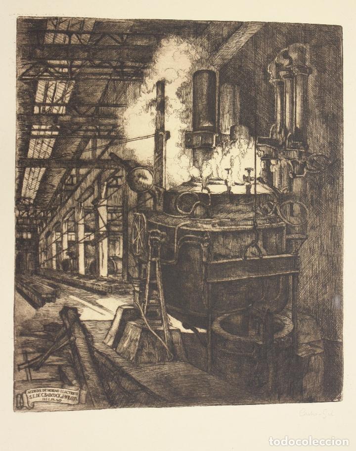 Arte: GRABADO ACERIA BABCOCK & WILCOX BILBAO. C. 1920. CASTRO GIL - Foto 2 - 175121482