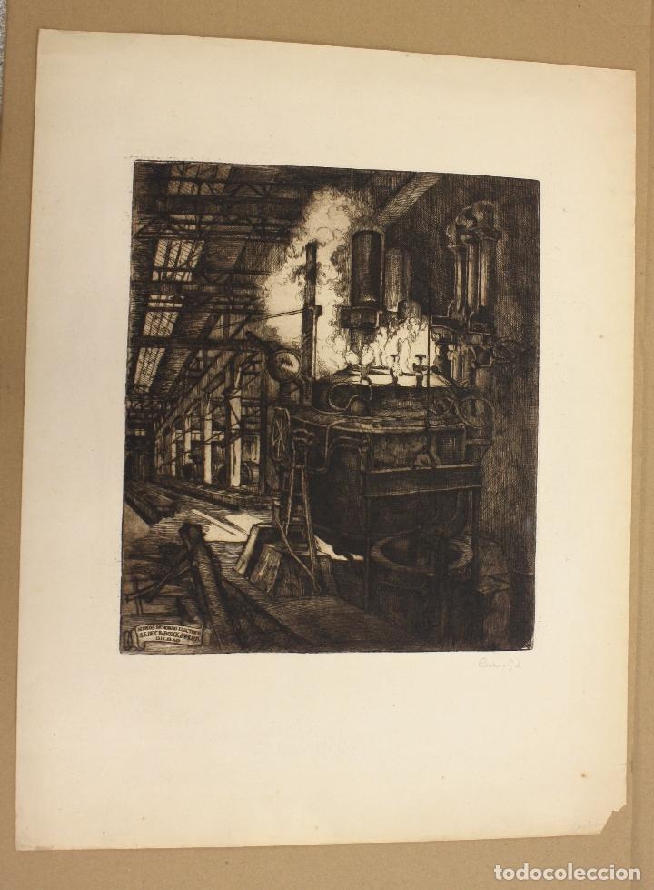 GRABADO ACERIA BABCOCK & WILCOX BILBAO. C. 1920. CASTRO GIL (Arte - Grabados - Contemporáneos siglo XX)