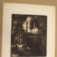 Arte: GRABADO ACERIA BABCOCK & WILCOX BILBAO. C. 1920. CASTRO GIL. Lote 175121482