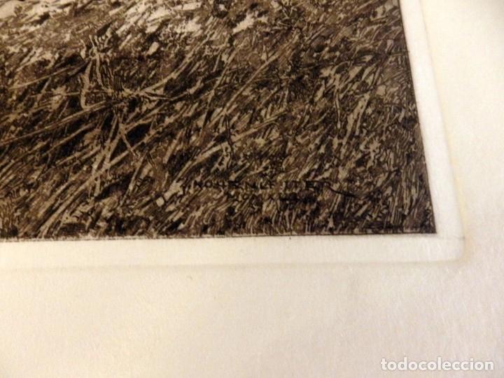 Arte: GRABADO ORIGINAL DE FRANCISCO HOHENLEITER, UNICO, COSTUMBRISMO , CABALLISTAS, 34X40 CMS - Foto 3 - 175183697