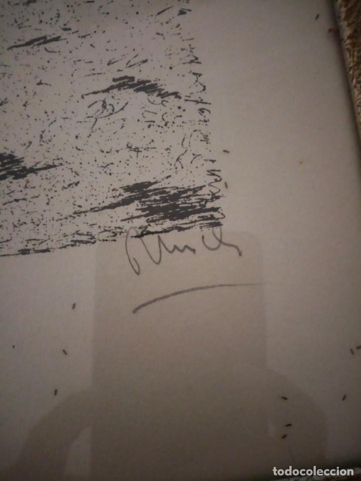 Arte: Bonito grabado de cuidad suiza,firmado y enmarcado. - Foto 4 - 175262143