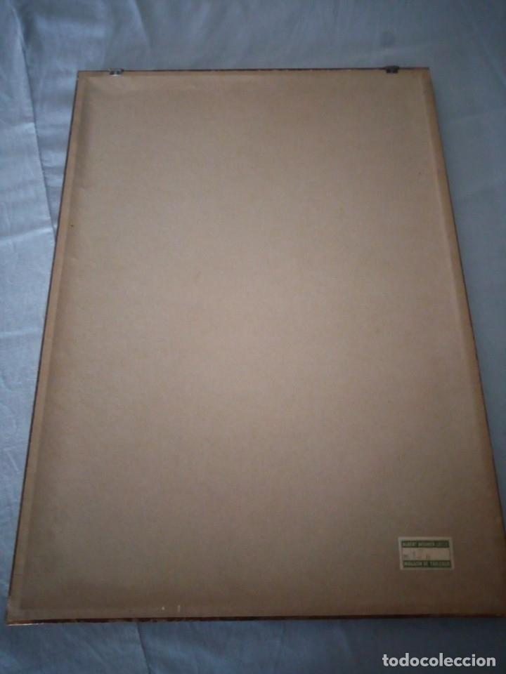 Arte: Bonito grabado de cuidad suiza,firmado y enmarcado. - Foto 6 - 175262143
