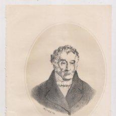Arte: LITOGRAFÍA. AÑO 1869. MANUEL JOSÉ QUINTANA (MADRID, 1772-1857). POETA. Lote 175279294