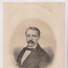Arte: LITOGRAFÍA. AÑO 1870. PEDRO CALVO ASENSIO (MOTA DEL MARQUÉS, VALLADOLID, 1821 - MADRID, 1863). Lote 175295415