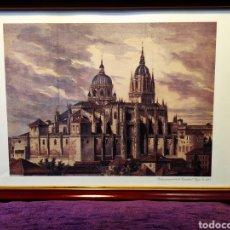 Arte: IMPRESIONANTE GRABADO DE LA CATEDRAL VIEJA DE SALAMANCA. Lote 175352135