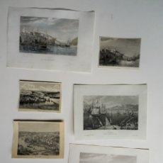 Arte: PORTUGAL, PORTO, OPORTO, DUERO – 6 GRABADOS DIVERSOS, CA. 1850, PORTO . Lote 175444618