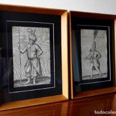 Arte: PAREJA DE GRABADOS DEL SIGLO XVII. IMPERIO OTOMANO. ESCUELA FRANCESA. Lote 175647689
