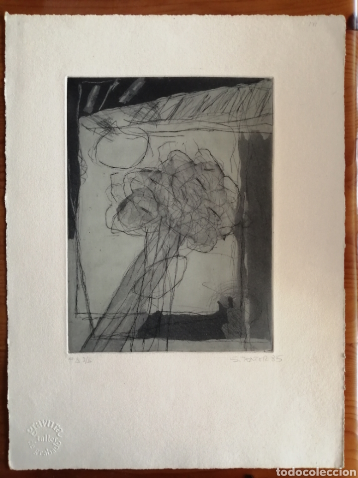 Arte: Juan Sánchez Tentor. Grabado de 1985. - Foto 2 - 175688995