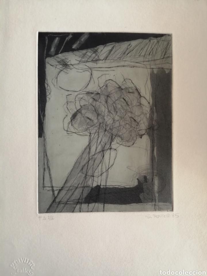 JUAN SÁNCHEZ TENTOR. GRABADO DE 1985. (Arte - Grabados - Contemporáneos siglo XX)