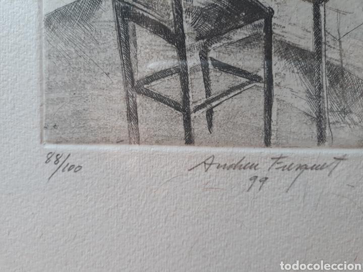 Arte: GRABADO ORIGINAL ANDREU FRESQUET 88/100 - Foto 3 - 175801897