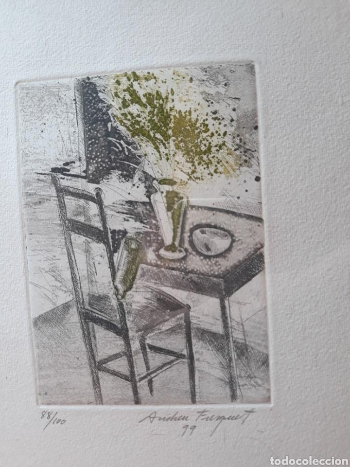 GRABADO ORIGINAL ANDREU FRESQUET 88/100 (Arte - Grabados - Contemporáneos siglo XX)