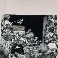 Arte: AGUAFUERTE / AGUATINTA POR MANUEL ALCORLO. DESTROZONES EN LA NOCHE. FIRMADO. EJEMPLAR 77/100. Lote 175930294