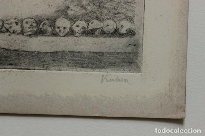 Arte: AGUAFUERTE DE ALFRED KUBIN FIRMADO Y NUMERADO 12/75 - Foto 2 - 175956258