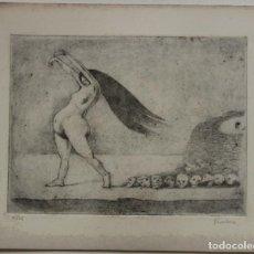 Arte: AGUAFUERTE DE ALFRED KUBIN FIRMADO Y NUMERADO 12/75. Lote 175956258