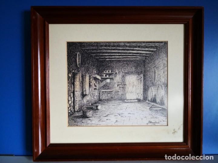 J. BONALLACH (1925-2016). BODEGA A PLUMILLA. 1991. (Arte - Grabados - Contemporáneos siglo XX)