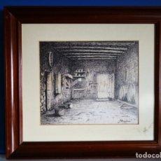 Arte: J. BONALLACH (1925-2016). BODEGA A PLUMILLA. 1991.. Lote 176287624