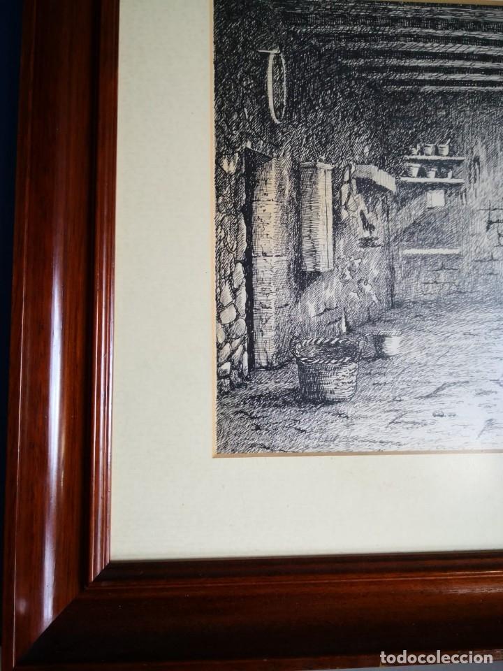 Arte: J. Bonallach (1925-2016). Bodega a plumilla. 1991. - Foto 2 - 176287624