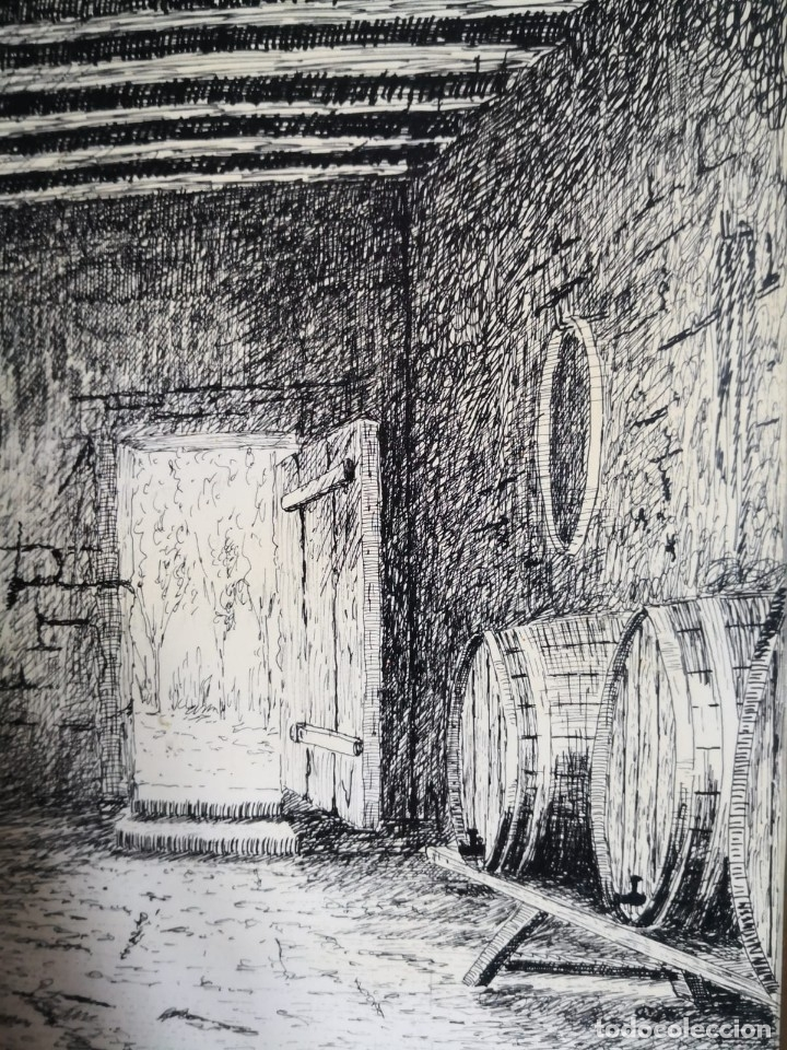 Arte: J. Bonallach (1925-2016). Bodega a plumilla. 1991. - Foto 5 - 176287624