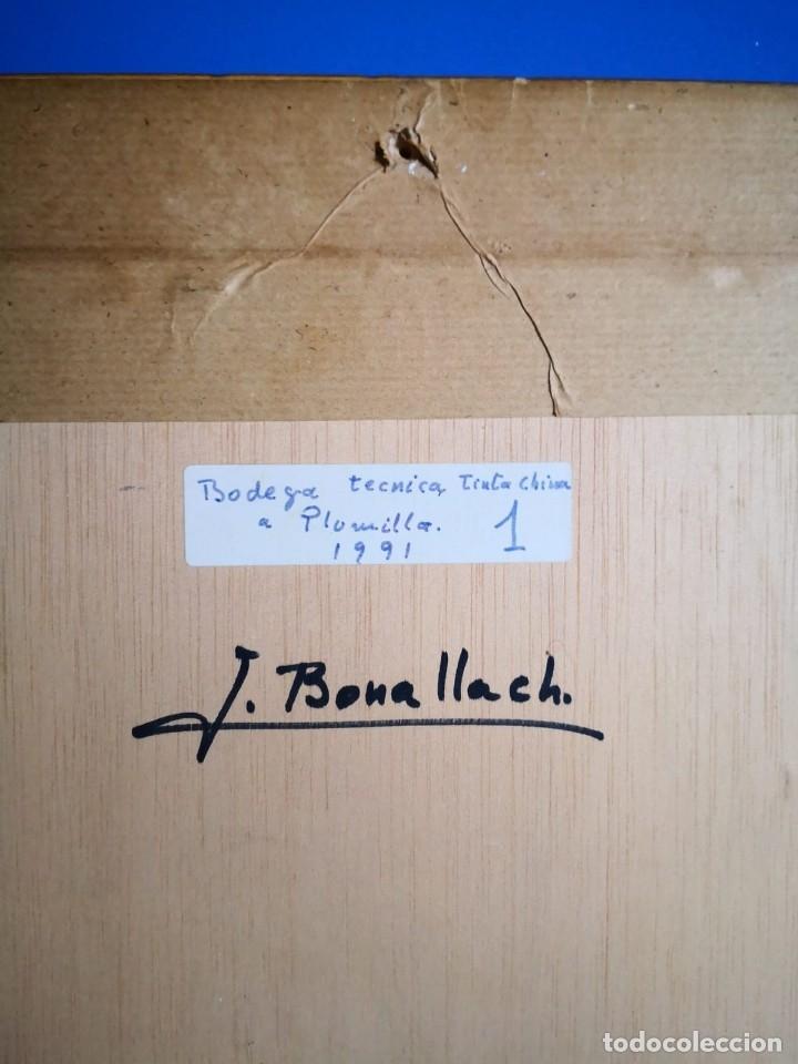 Arte: J. Bonallach (1925-2016). Bodega a plumilla. 1991. - Foto 6 - 176287624