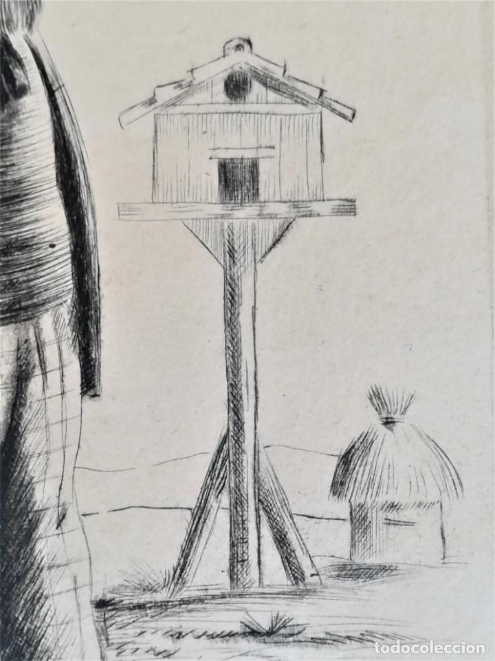 Arte: GRABADO ORIGINAL, IMAGEN PINTOR RAMON CASAS O SANTIAGO RUSIÑOL CON OLEO EN CAMPO,FIRMADO UTRILLO. - Foto 6 - 176381563