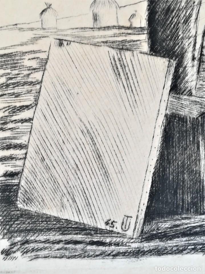 Arte: GRABADO ORIGINAL, IMAGEN PINTOR RAMON CASAS O SANTIAGO RUSIÑOL CON OLEO EN CAMPO,FIRMADO UTRILLO. - Foto 7 - 176381563